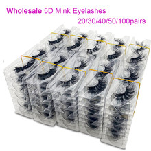20/50/100Pairs Wholesale Mink Lashes 3D Mink Eyelashes 100% Cruelty free Lashes Handmade Reusable Natural False Lashes Makeup