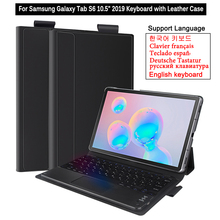 Klawiatura Bluetooth do Samsung Galaxy Tab S6 10.5 cala 2019 Touchpad klawiatura Case sm t860 T865 T867 Tablet odłączana klawiatura