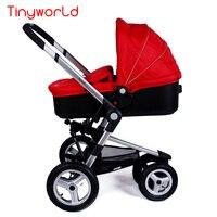 2 in 1 High Landscape Stroller Baby Stroller runing stroller Lightweight Folding Wheels Baby Stroller Cart Car Seat Canopy