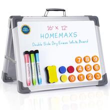 Dry Erase Board Double Sided Personal Desktop A-type Standing White Board Tabletop Message Board Reminder for School Home Office