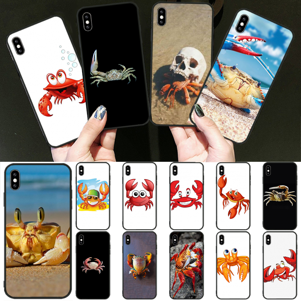 Viviana cute cartoon lovely crab DIY Luxury Phone Case for iPhone 11 pro XS MAX 8 7 6 6S Plus X 5 5S SE XR cover