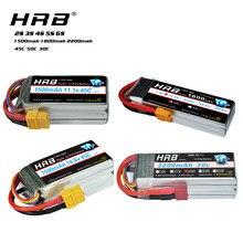 Bateria 2s 3s 4S 5S 6s 7.4v 11.1v 14.8v 18.5v 22.2v 1500 v 1800mah 2200mah mah 50c 100c para o zangão de corrida quadcopter fpv