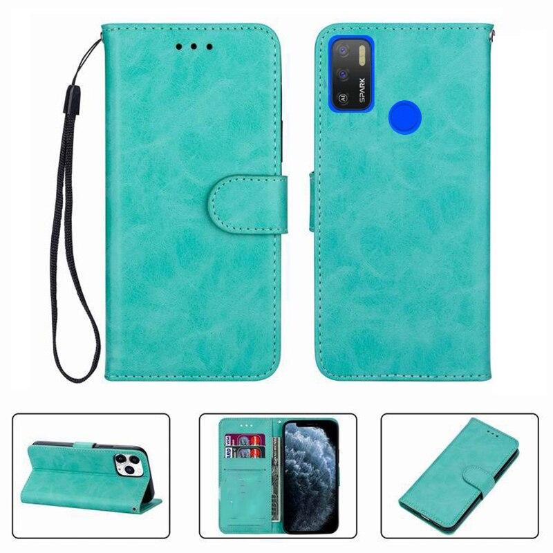 Чехол-бумажник для Tecno Spark 5 Air Spark5 5Air KD6a, высококачественный кожаный чехол-книжка с тиснением, защитный чехол для телефона