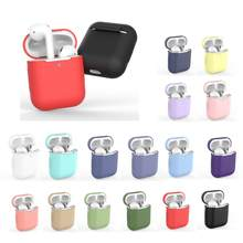 Funda de auriculares para Apple AirPods 1 2 funda de silicona inalámbrica con Bluetooth, funda protectora para AirPod Air pods Silm(China)