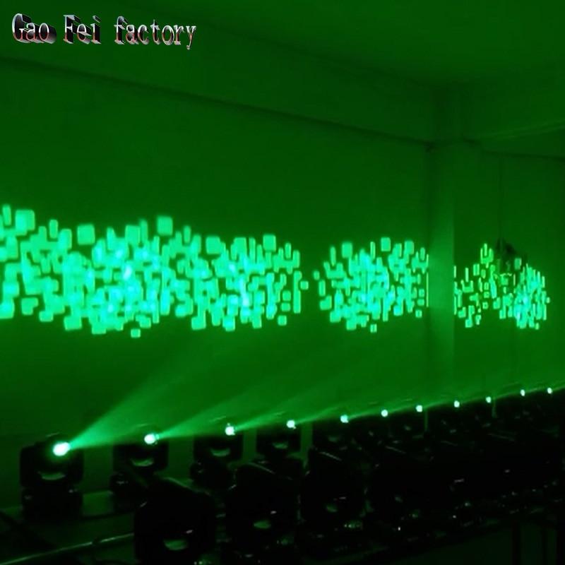cabeca luz 10 w dmx dj 8 gobos efeito luzes do palco 05