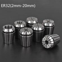 2 مللي متر 20 مللي متر ER32 كوليت تشاك أداة بت حامل أسطوانة معدنية ل آلة الحفر باستخدام الحاسب الآلي طحن مخرطة أداة سبيندل موتور المشبك