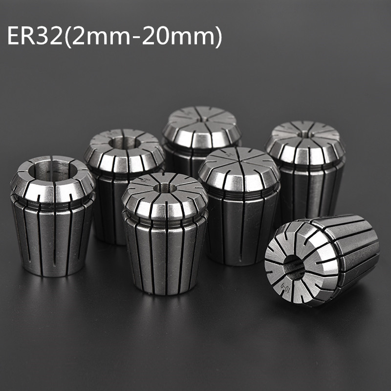 2mm-20mm ER32 Collet Chuck Tool Bits Holder Spring Collet For CNC Engraving Machine Milling Lathe Tool Spindel Motor Clamp