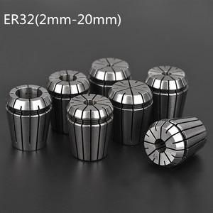 Image 1 - 2mm 20mm ER32 Collet Chuck Tool Bits Holder Spring Collet for CNC Engraving Machine Milling Lathe Tool spindel motor clamp