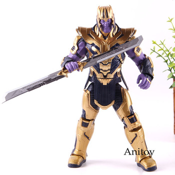 Marvel Endgame Thanos Figure Endgame Armor Ver. Thanos Action Figure Marvel PVC Collectible Model Toy 21cm фото