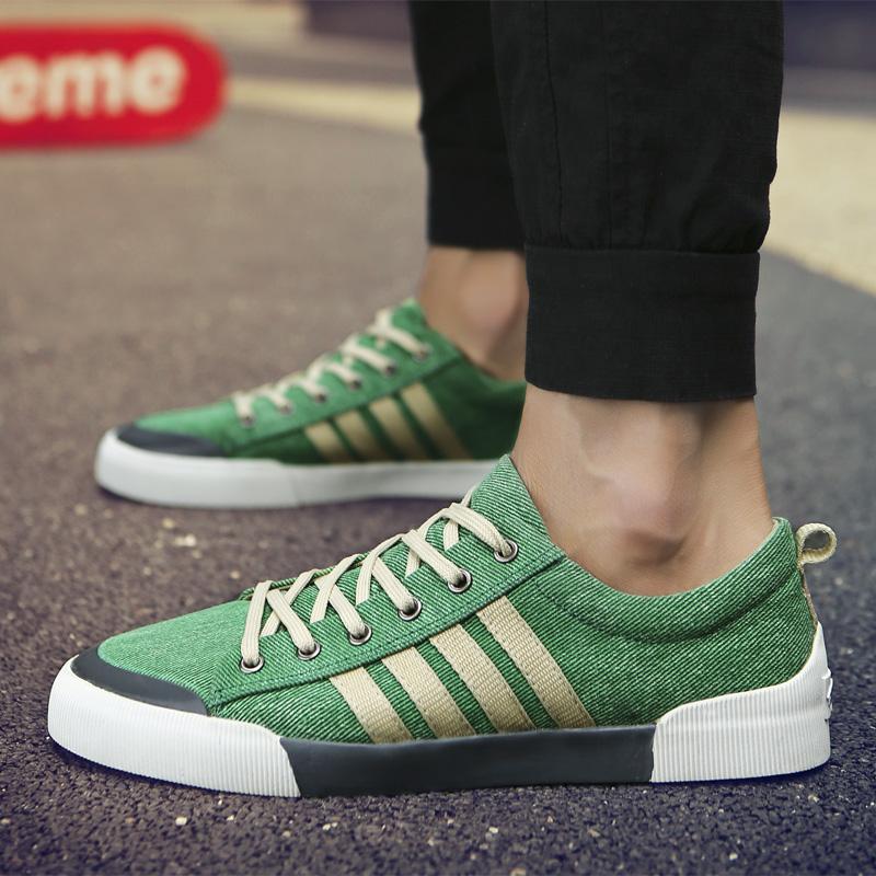 SHANTA Men Canvas Shoes 2020 Fashion Solid Color Men Vulcanized Shoes Lace up White Casual Shoes Men Sneakers Tenis Masculino