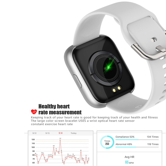 SANDA 1.4 Inch Smart Watch Men Waterproof Smartwatch Heart Rate Monitor Multiple Sport Model Fitness Tracker Man Women Wearable