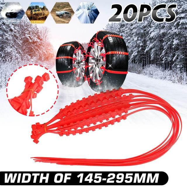 10/20/30x Universal Mini Winter Tires Wheels Snow Chains Car-Styling Anti-Skid Winter Outdoor Roadway Safety Driving Accessories