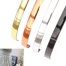 5M Self-adhesive Ceramic Tile Gap Tape Mildewproof Waterproof Frame Decoration Line Gold for Wall and Ceiling Decoration Edge