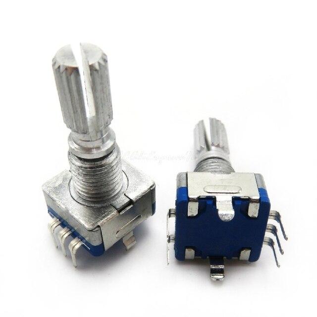 5pcs//lot Original Rotary Encoder Code switch//EC11// Audio Digital Potentiometer with Switch 5Pin Handle Length 20mm