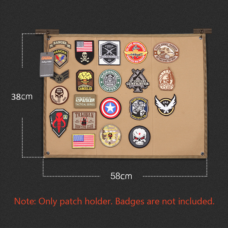 Tactical Morale Patch Holder DIY Patch Display Board Cloth Badges Folding Mat For All Military Patches ID Patches Name Tapes