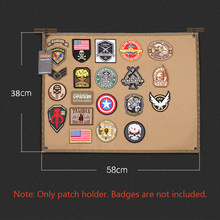 Tactical Morale Patch Holder DIY Patch Display Board Cloth Badges Folding Mat for All Military Patches ID Patches Name Tapes(China)