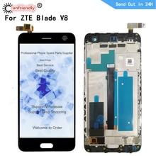 """Cho ZTE Blade V8 BV0800 5.2 """"Màn Hình LCD Hiển Thị + Tặng Bộ Số Hóa Màn Hình Cảm Ứng Có Khung Lắp Ráp Cho ZTE Blade V8 V 8 Màn Hình Sửa Chữa Điện Thoại"""