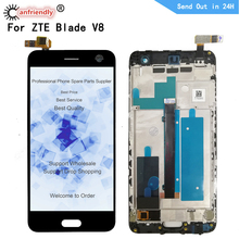 """ل ZTE بليد V8 BV0800 5.2 """"شاشة الكريستال السائل محول الأرقام بشاشة تعمل بلمس مع الإطار الجمعية ل ZTE بليد V8 فولت 8 عرض إصلاح الهاتف"""