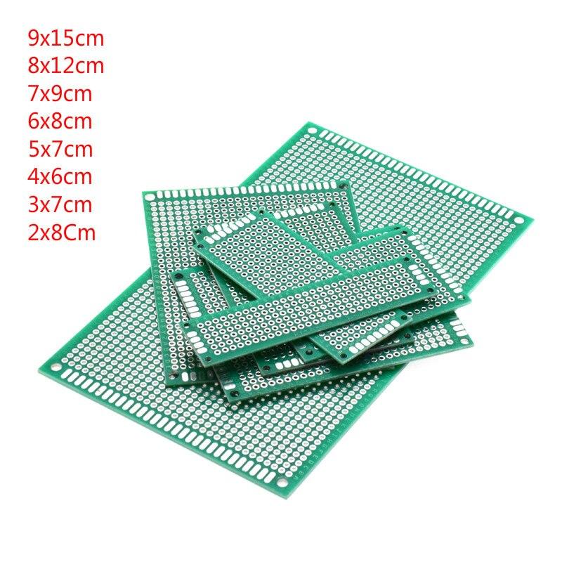 Spray Double face vert, 5 pièces, 9x15cm, 8x12cm, 7x9cm, 6x8cm, 5x7cm, 4x6cm, 3x7cm, 2x8Cm circuit imprimé universel pour Arduino, plaque en fer blanc