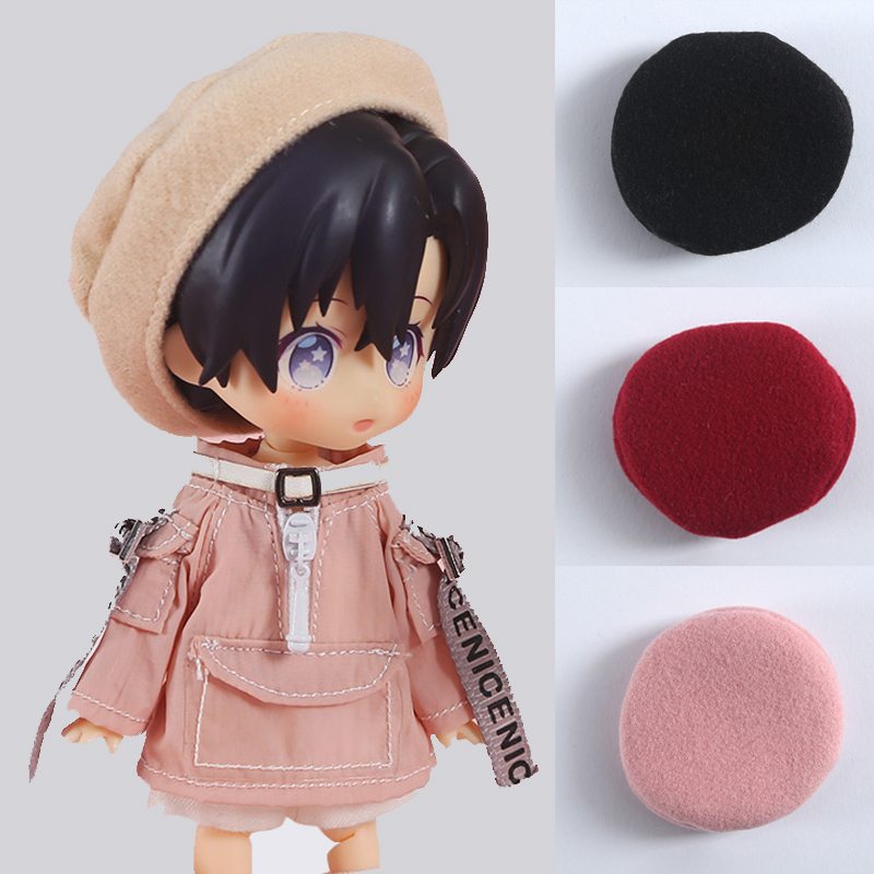 ob11 baby clothes 1/8bjd 1/2 bjd doll accessories doll beret ob11 <font><b>hat</b></font> round nose molly little <font><b>red</b></font> <font><b>hat</b></font> PICCODO GSC clay head image