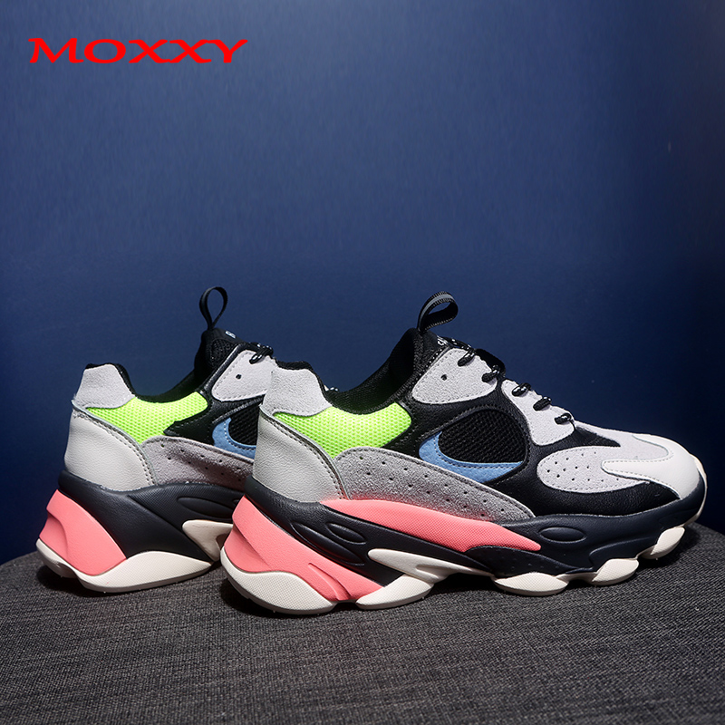 2019 New Vintage Dad Sneakers Platform Designer Chunky Sneakers Women Fashion Casual Shoes Woman Comfort Basket Chaussures Femme