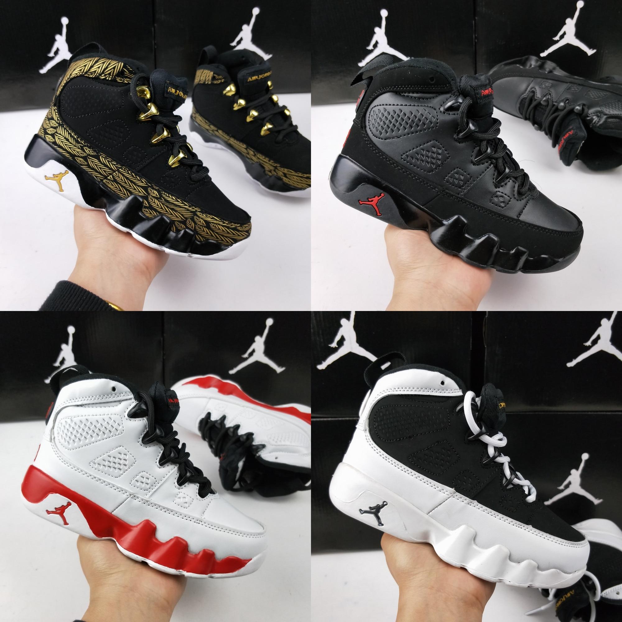 Basketball-Shoes Air-Jordan Bred Retro Children Kid 9-Dream Jam It-Do-It-Unc IX 28-35