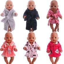 Одежда для кукол милое плюшевое пальто банный халат пижама девочек