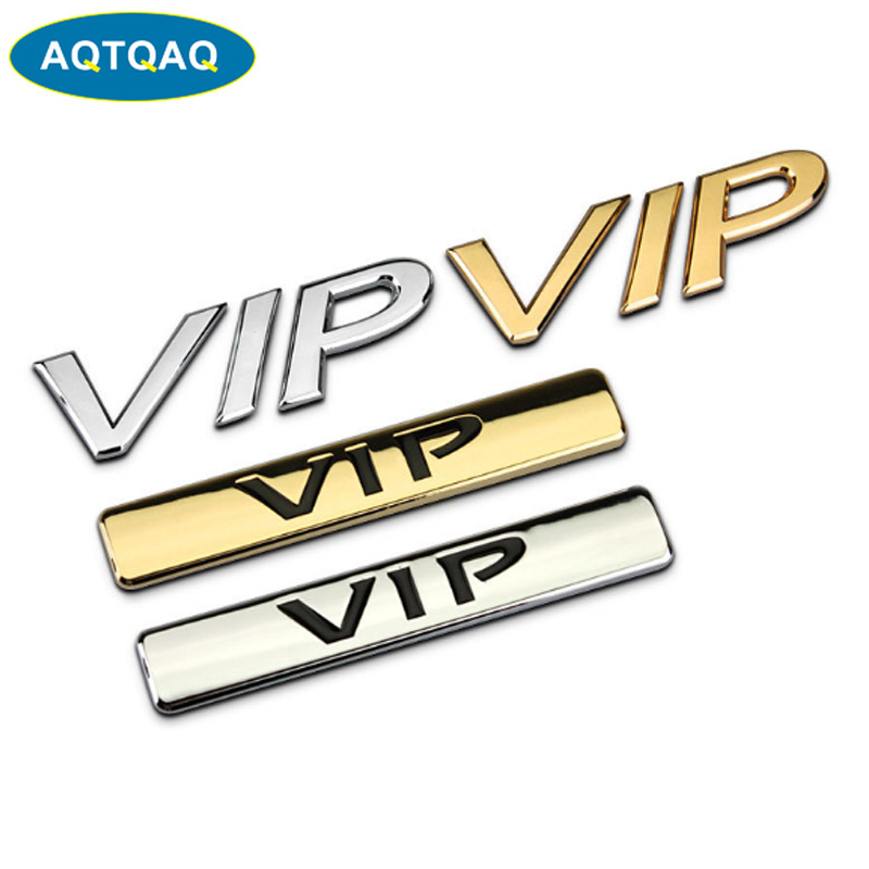 New Black VIP Luxury Auto Car Trunk Side Tailgate Emblem Badge Decal Sticker