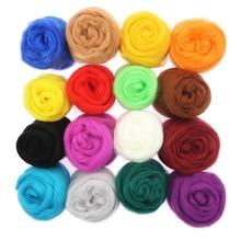 10g 86 Colors Wool Roving Needle Felting Wool Yarn Roving Wool Fibre Wool for Needle Felting Hand Spinning DIY Craft Materials