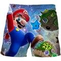Детские летние шорты для купания с мультипликационным принтом «Марио», купальник для маленьких мальчиков и девочек, детские модные купальн...