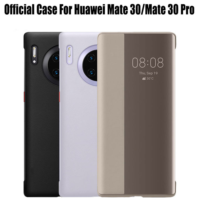 For HUAWEI Mate 30 / 30 Pro Case Official Original Smart View Call ID PU Leather flip Cover For Mate30 HM31|Flip Cases| |  - title=