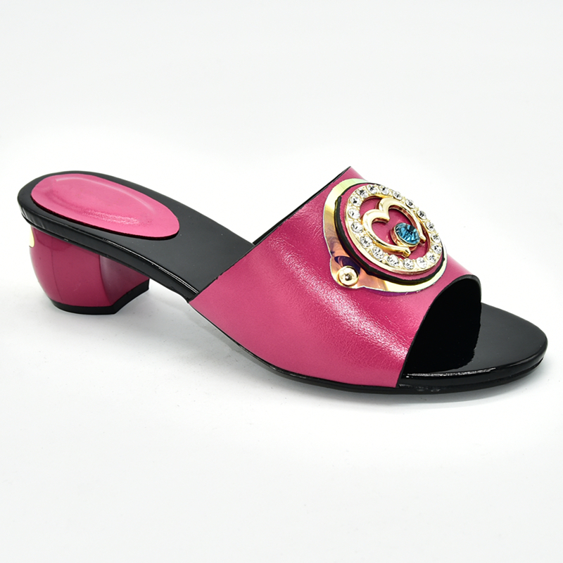 Image 5 - Ladies Shoes Summer Slippers Good Quality Italian Women Wedding Shoes Decorated with Rhinestone Daily Slippers for Ladies ShoeWomens Pumps   -