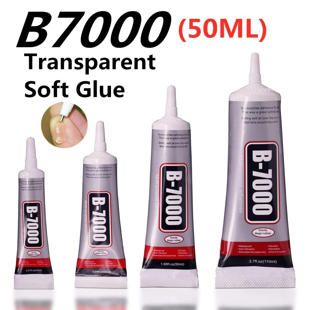 50ml b7000 glue Mobile phone touch screen Superglue b-7000 adhesive telephone glass glue repair point diamond jewelry DIY glue(China)