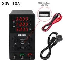 새로운 고정밀 전압 조절 실험실 전원 공급 장치 30 V 10A 전원 공급 장치 가변 전압 및 전류 조절기 30 V