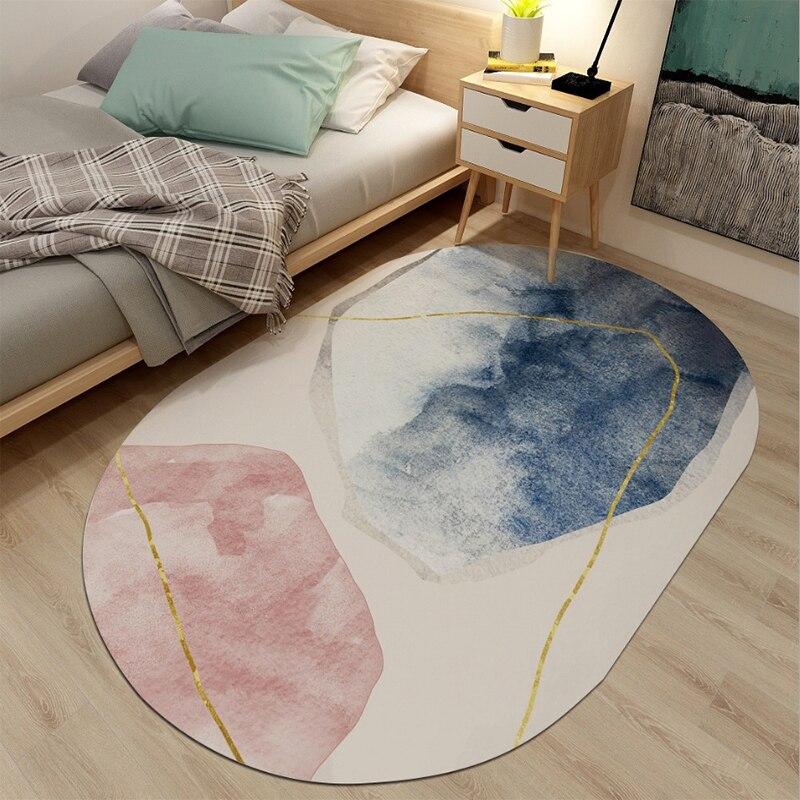 Anti-Slip Living Room Round Carpet Children Rug Room Decoration Home Hallway Floor Rug Bedroom Bedside Mat Tatami Floor Mats