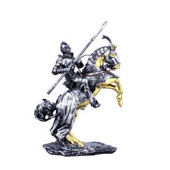 Resin Crafts Home Decorations Living Room Office Tv Cabinet Wine Cabinet Display Retro Riding Samurai Home Decoration Ornaments