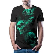 Camiseta de manga corta a la moda para hombre, camiseta informal colorida con estampado 3D, verano 2021