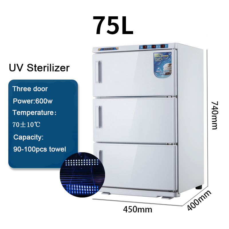 25/50/75L Wet Towel Heating Disinfection Cabinet Wet Towel Warmer UV Sterilizer Steam Box Uv Disinfection Cabinet Keep Healthy