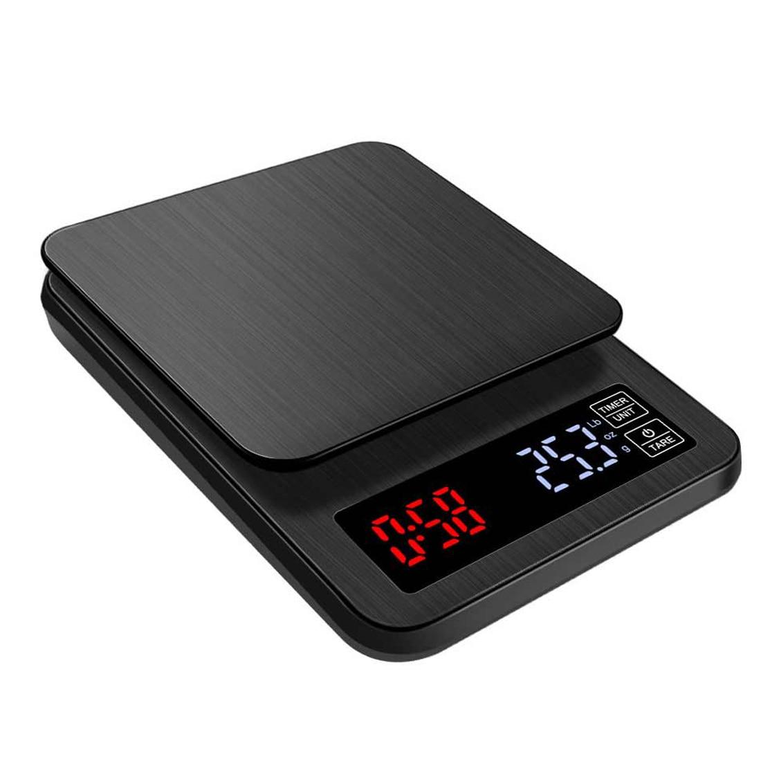 3/5/10 キロ 0.1 グラム/0.01 グラム Lcd 電子キッチンは家計のバランス調理測定ツールステンレス鋼デジタル計量食品