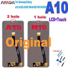Oryginalny do Samsung Galaxy A10 A105 A105F SM-A105F wyświetlacz LCD M10 M105 M105F ekran dotykowy wymiana Digitizer zgromadzenie