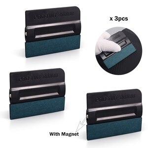 Image 4 - FOSHIO 3 sztuk Vinyl oklejanie samochodów folia z włókna węglowego skrobak magnetyczny folia zaciemniająca okna Bondo bez zarysowań zamsz gumowa ściągaczka Wrap Tool