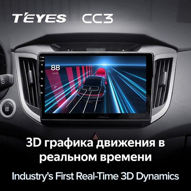 TEYES CC3 Штатная магнитола For Хендай Крета GS For Hyundai Creta IX25 2015 - 2019 до 8-ЯДЕР, до 6 + 128ГБ 27EQ + DSP carplay автомагнитола 2 DIN DVD GPS android 10 мультимедиа автомобиля головное устройство 5