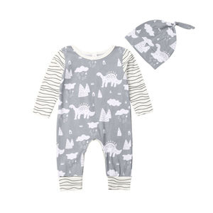Nowa kolekcja dla dzieci 2 szt. Xmas ubrania noworodek dla niemowląt chłopcy dziewczęta renifer Romper kombinezon kapelusz ubrania strój bożonarodzeniowy