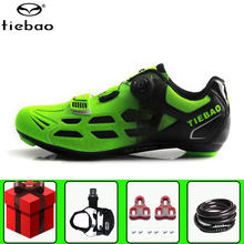 цена на TIEBAO Road Cycling Shoes sapatilha ciclismo add pedal set men Self-locking Athletic Racing Bicycle Bike bicycle sports Shoes