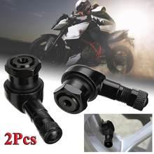 2 pçs ângulo de 90 graus haste da válvula liga alumínio da motocicleta roda pneu sem câmara haste válvula hastes para aro peças da roda cnc motocicleta aro