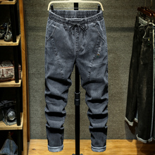 9XL 10XL Plus Size New Summer High Quality Men Baggy ripped solid Pants Cargo Male Casual Denim Fashion Mens Long Jeans Trousers