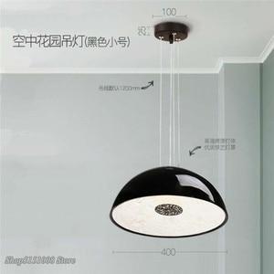Image 4 - Lampe suspendue en résine, design pendentif Led, design nordique moderne, luminaire décoratif dintérieur, idéal pour un jardin, une salle à manger, un salon ou une chambre à coucher, pendentif Led