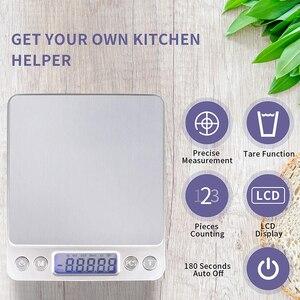 Image 5 - Портативные точные мини электронные весы, Карманный чехол для почты, кухни, ювелирных изделий, баланс веса, цифровой Вес г, ЖК дисплей