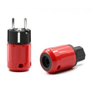 Image 3 - Paar Audio Grade Rhodium Eu Schuko Stekker + Iec Connector Plug Diy Netsnoer