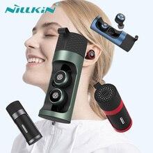 NILLKIN kablosuz Mini kulaklık Bluetooth 5.0 kablosuz kulaklık Mic ile Mini CVC gürültü azaltma IPX5 su geçirmez spor kulaklık